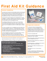 First Aid Kits Guide