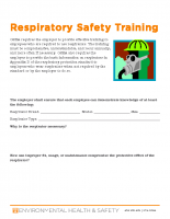 Respiratory Safety Training Guide