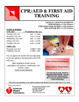 CPR-AED flyer July 2018