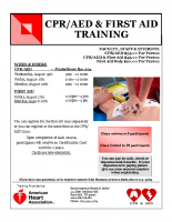 CPR-AED flyer August 2018