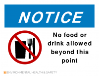 Notice No Food or Drink